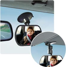 "Reer Safety rear-view mirror ""2in1"" -  The safety rear view mirror ""2in1"" offers an extra large field of view on your sunshine through ist convex mirror shape."