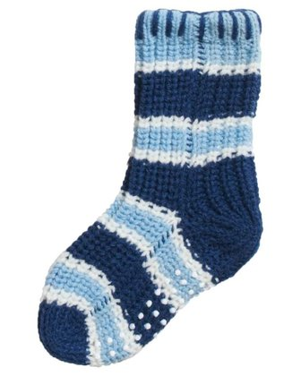 Playshoes non-slip knitted socks Ringel blau 2016 - large image