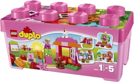 LEGO Duplo Girl's Brick Box - The LEGO Duplo Girls - building block box is the ideal entry into the world of blocks.
