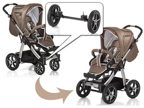 Hartan Quad system for Sky / Sky XL - The Acer quad system is an extra pair grief tyres with a cross rim and your agile sports car transforms into an offroadtauglichen stroller - so nothing i...