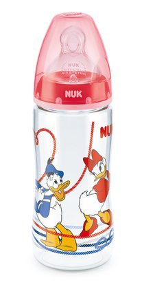 NUK Disney Donald FIRST CHOICE+ Babyflasche, 300 ml rot 2015 - Großbild