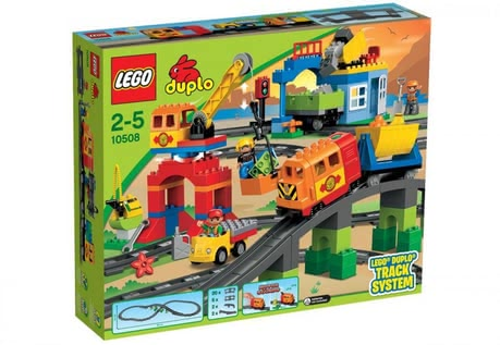 LEGO Duplo Train Super Set - The train super-set by LEGO Duplo consists of 134 parts, encourages the creativity and provides a lot of playing-fun