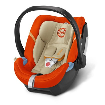 Cybex Babyschale Aton 4 Autumn Gold - burnt red 2016 - Großbild