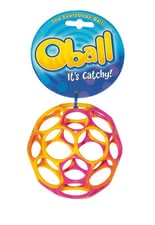 Oball Original - The Oball is made of flexible plastic, promotes motor skills of your sweetheart and is suitable for all ages