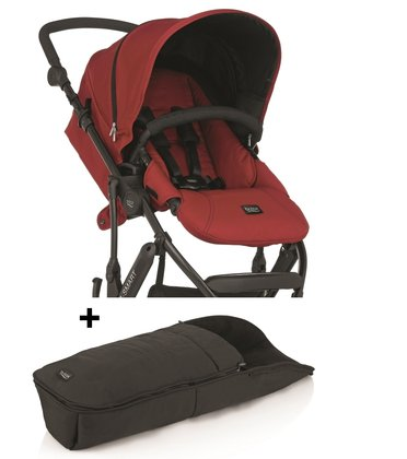 Britax B-SMART 3-wheeler + Britax foot muff for B-SMART Chili Pepper 2015 - large image