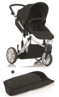 Britax B-SMART 3-wheeler + Britax foot muff for B-SMART - The set contains the chic B-Smart 3 and a foot muff