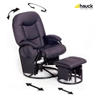 Hauck Nursing and relaxing chair Metal-Glider Recline - The modern breastfeeding and relaxation chair made ​​by Hauck is super comfortable and not only during lactation a peaceful retreat.