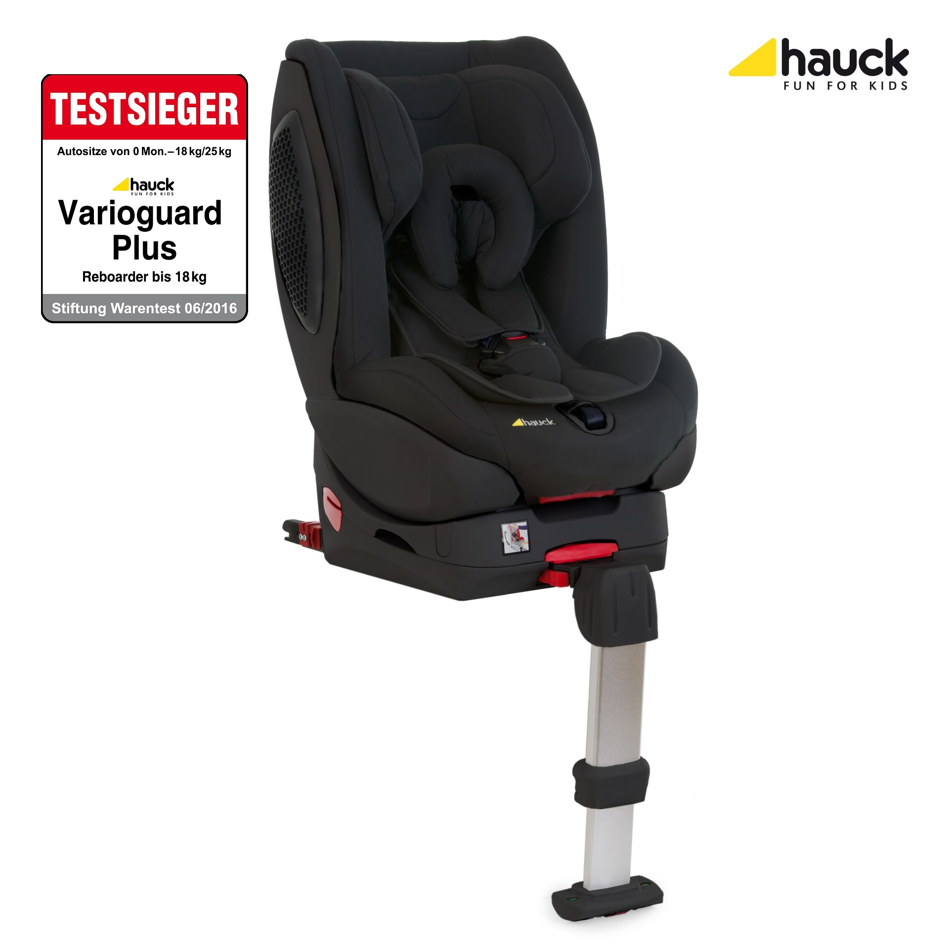 hauck reboard kindersitz varioguard plus inkl isofix basis 2017 black edition online kaufen bei. Black Bedroom Furniture Sets. Home Design Ideas
