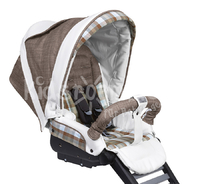 Teutonia Combi stroller Cosmo Titanium - The slim Teutonia Cosmo frame is a maneuverable accompanist and provides a lot of comfort.