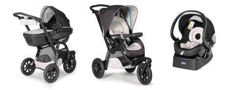 Chicco Travel system Trio Activ 3 - The Chicco Travel-Sytem Trio Activ 3 suits ideal for sporty and dynamic parents and convinces through its comfort