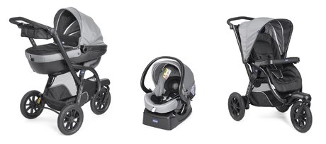 Коляска Chicco Travel-System Trio Activ 3 Dark Grey 2018 - большое изображение