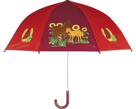 Playshoes umbrella for children, horses - If rainy days or tristes weather with the Playshoes horses umbrella your child at all times well protected from above.