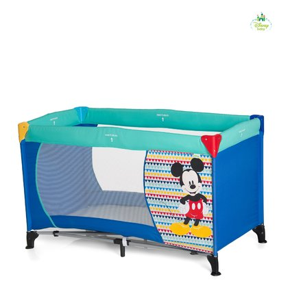 Disney travel cot Dream 'n Play, Mickey & Minnie Mickey Geo Blue 2017 - large image