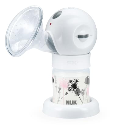 NUK Luna electric comfort breast pump -  Efficient: 2-phase pumping rhythm with continuous variable suction strength regulation  Individual: Duration of suction phases manually selectable Pleasant: super soft silicone cushion