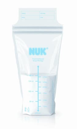 NUK Breast milk bags -  The hygienic NUK Breast milk storage bags are ideal suitable for storage of breast milk in refrigerator or freezer.