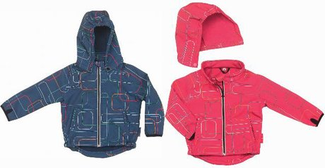 Playshoes soft shell jacket, printed marine 2014 - 大圖像