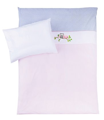 Zöllner Bedding set with appliqués, Little Owls, pink 2016 - large image