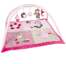 Nattou play mat and activity gym Manon & Alizee - The Nattou playmat with bow Manon & Alizee promotes hand-eye coordination of your princess and makes for lots of fun