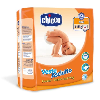"Chicco Veste Asciutto diapers, size 4 ""Maxi"", 8-18 kg 2016 - large image"