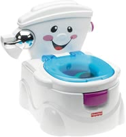 Fisher-Price Learn-to-Flush potty - Rarely the transition from potty to the toilet is so easy and fun for your baby as the Baby Gear First toilet from Fisher-Price!