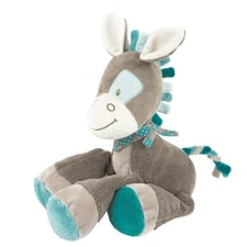 Nattou soft animal toy Gaston, 36cm -  The Nattou plush animal Gaston has a size of about 36 cm and is quickly becoming the new best friend of your favorite