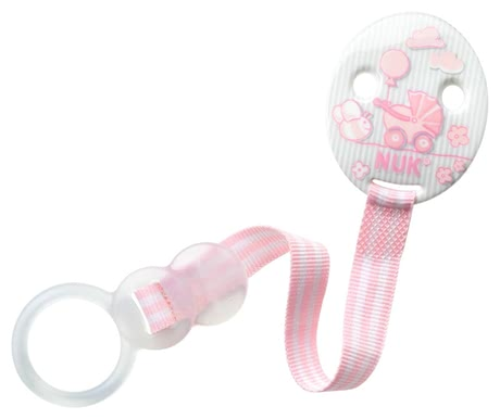 NUK Baby Rose soother ribbon Duo - With the NUK Baby Rose pacifier ribbon DUO allows you to attach the pacifier of your little princess easy and secure.