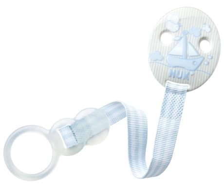 NUK 安撫奶嘴鏈,嬰兒藍 - With the NUK Baby Rose pacifier ribbon DUO allows you to attach the pacifier of your little prince easy and secure.
