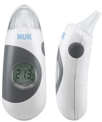 NUK Bath thermometer 2in1 - With the NUK 2in1 thermometer you can measure the body temperature of your little treasure in seconds and very gently.