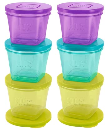 NUK Fresh Foods 食品保鮮盒 -  * The NUK Fresh Foods food pots are ideal for being filled with homemade puree right after preparing it, for being stored in the fridge or even for putting them in the freezer.