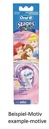 Braun Replacement brush head for Oral-B children's toothbrush D 10511 - The Braun replacement brush has a rounded and narrow brush head and fits perfectly into the small mouth of your treasure.