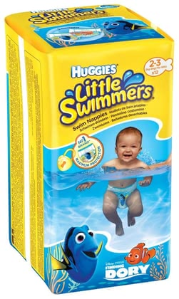Swim diapers, size 2/3 - Thanks to the swimming diapers, you can carefree enjoy bathing with your small water flea. The diapers provide security and leave nothing in the water.