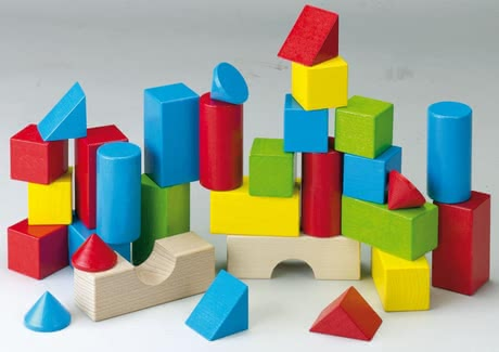 Haba Colored bricks - With imagination and some skill, high towers, great pillars, houses and bridges resulting from the colourful building blocks.