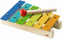 Haba Metallophone - Wild music and great sounds - with the robust wooden xylophone no problem. The painted metal ensembles invite her little treasure to make music.