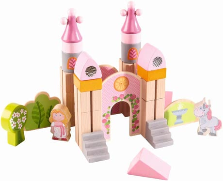 Haba Play blocks Little Fairytale Castle - Love your little mouse princesses, castles, and the shade of pink? Then, the great building blocks by HABA are exactly right.