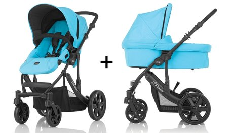 Britax B-Smart 4 incl. carry cot Blue Atoll 2015 - large image
