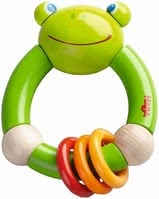 Haba Clutching toy Croaking Frog - It provides entertainment and variety. At the same time your little Darling makes first experiences as regards movement, keys and access.