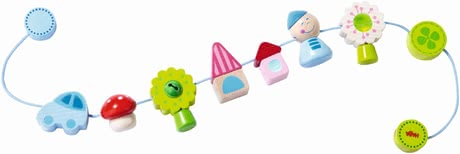 Haba Stroller chain Pixie World - What is there not to discover? Sweet secret Santa, houses, trees, and flowers will accompany your flea on long and short walks.