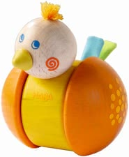 Haba Wibble Wobble Bird - Their little sunshine from approx. 1 year will have his joy the fun jiggling bird. As soon as the figure to be poked, the baby's head bounce up and down.