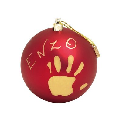 BabyArt Christmas ball - With the Christmas ball baby art, they give a beautiful and very special memorabilia of the childhood of your little Angel yourself or your loved ones.