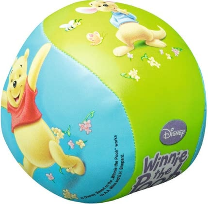 维尼熊儿童玩具软球 - The extra soft softball Winnie the Pooh is perfect for the first own ball games of your little treasure and will put a lot of joy to him!