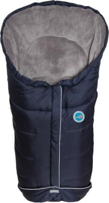 Fillikid winter foot muff, navy blue - The Fillikid winter Fußsack marine is equipped with super soft polar fleece and keeps your Angel toasty warm - so nothing more in the way is a walk in co...
