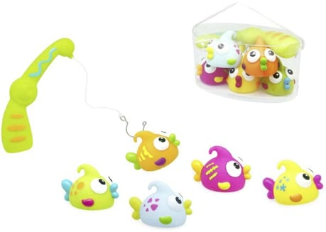 Bath-time fishing set - Skill and patience are needed, if your pool frog wants to fish one of the five great Badespritztiere. Every day is an experience!