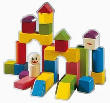 Haba Clown building blocks - With fun, imagination, skill and above all patience, great works of art can be create with the colourful building blocks.
