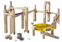 Haba Ball track Master Building Set - With the smart ball rail kit new design opportunities.