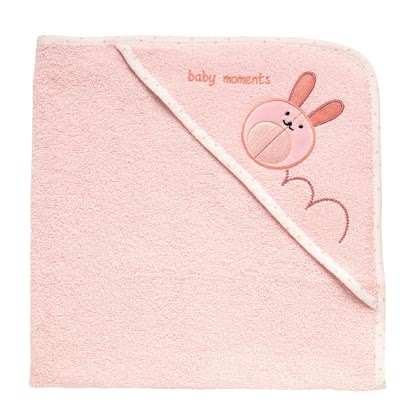Chicco Microfiber terry hooded towel - pink rabbit 2016 - большое изображение