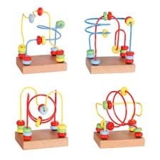 Beeboo mini bead maze - In the push and run the colorful wood balls on the red, yellow or blue metal guide rails, his fine motor skills trained her small explorers from approx. ...