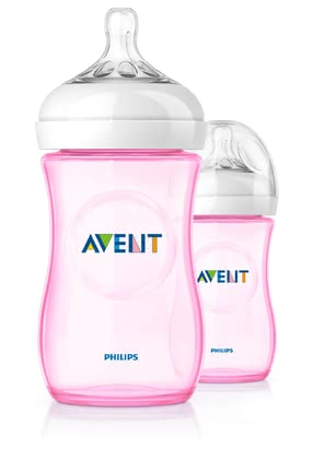 AVENT Close-to-nature bottles, double pack, pink - The fancy bottles, extra for your little princess in the delicate pink, have an ergonomic shape, which is good for you to keep and to attack from any dir...