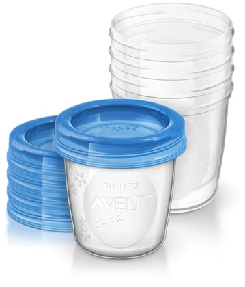 AVENT Storage beaker for breast milk - The Avent storage cups for your precious breast milk are the perfect companion in the lactation period, but later the practical Cup will find a good use.