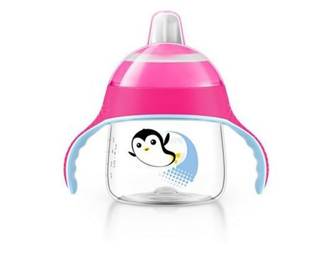 AVENT Soft-spout cup - The shapely Trinklernbecher from the House of Avent facilitates your little Sparrow's early to learn drinking from the Cup.