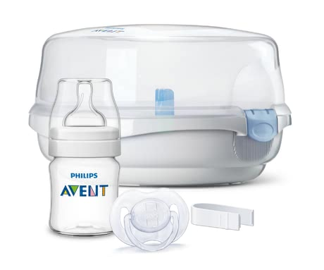 AVENT Microwave steam sterilizer incl. accessories - Whether bottle, teat, dummy fast and uncomplicated handling of the Avent microwave of steam steriliser is.